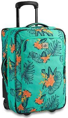 DaKine Carry On Roller 42L Luggage - Turquoise Jungle Palm -