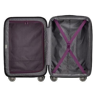 DELSEY 2.0 Expandable Rolling Carry Luggage Suitcase, Purple