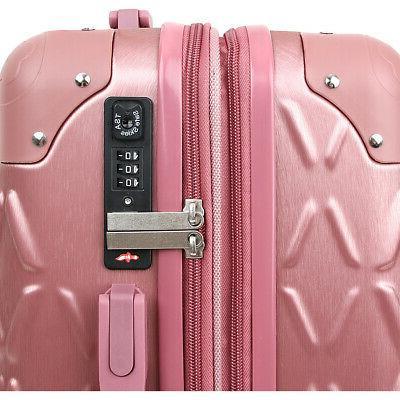 J World York Dia 3 Piece Hardside Spinner Luggage Luggage