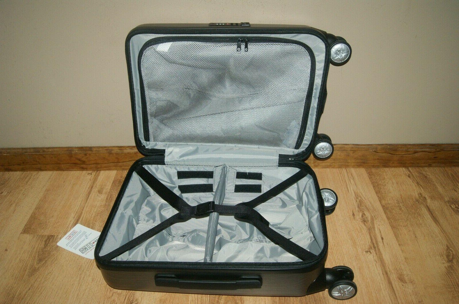 Spinner Carry-On Luggage Brushed Graphite