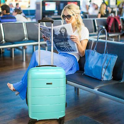 REYLEO Luggage 20 Inch Carry Luggage Travel USB