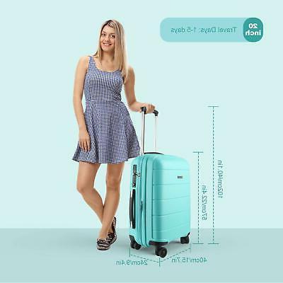 REYLEO Luggage Inch Carry on Luggage Travel Suitcase USB
