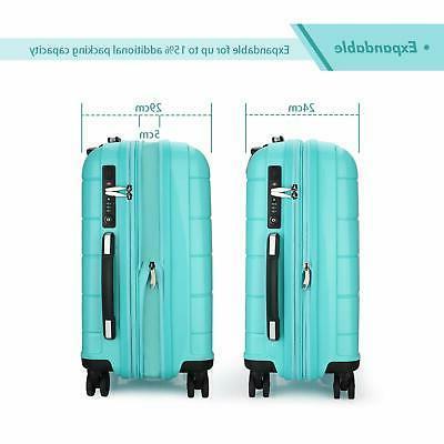 REYLEO Expandable Luggage Inch Carry on Luggage Travel Suitcase USB
