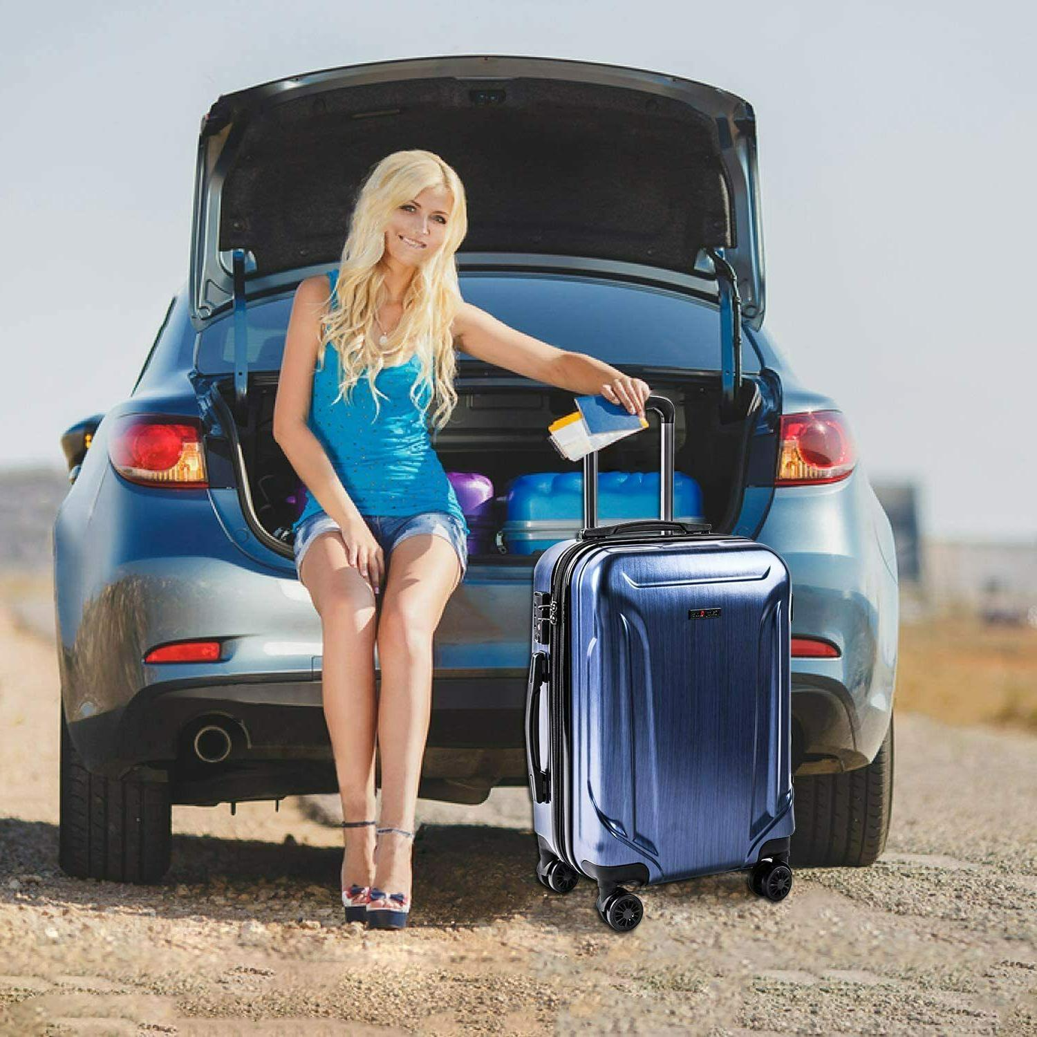 CarryOne Luggage PC+ABS Travel Suitcase