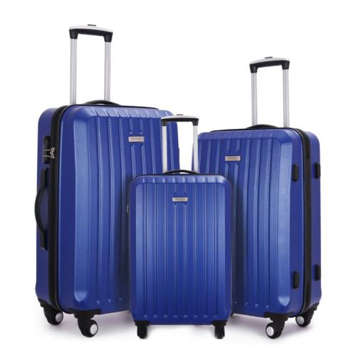 Fochier 3 Piece Luggage Sets Hard shell Lightweight Suitcase
