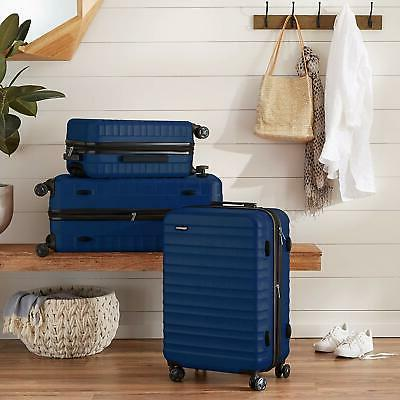 hardside carry on spinner travel luggage navy