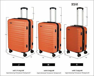 AmazonBasics Spinner Luggage - 20-Inch, Carry-On Standard Orange