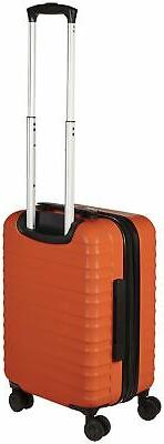 AmazonBasics Hardside Luggage - 20-Inch, Carry-On Standard Orange