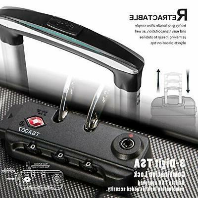 Coolife Luggage Set Suitcase Lightweight TSA