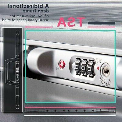 Coolife Luggage Aluminium Frame Suitcase TSA 100% PC
