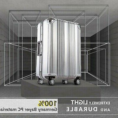 Coolife Aluminium Suitcase with