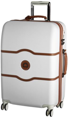 luggage chatelet hard medium checked spinner suitcase
