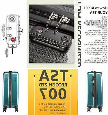 Coolife Carry TSA Spinner 20in