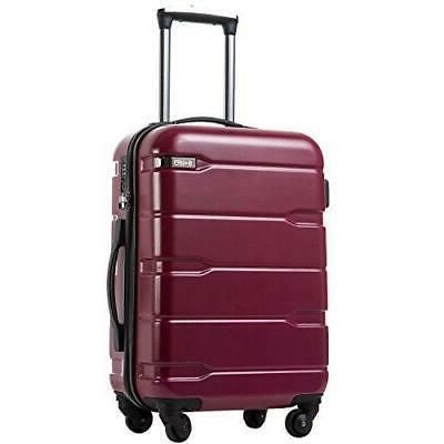 luggage expandable suitcase carry on tsa lock
