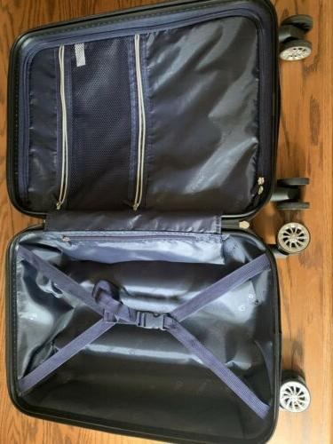 Luggage Expandable S_carry on white grid US