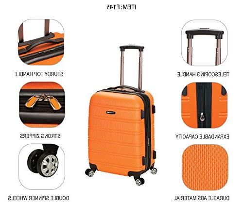 Rockland Luggage Inch On Luggage, Silver, Size