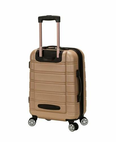 Rockland Luggage Melbourne 20 Inch Expandable On, Champagne,
