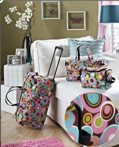 3 Piece Luggage Sets Travel Duffel Bag with Wheels Tote Bag