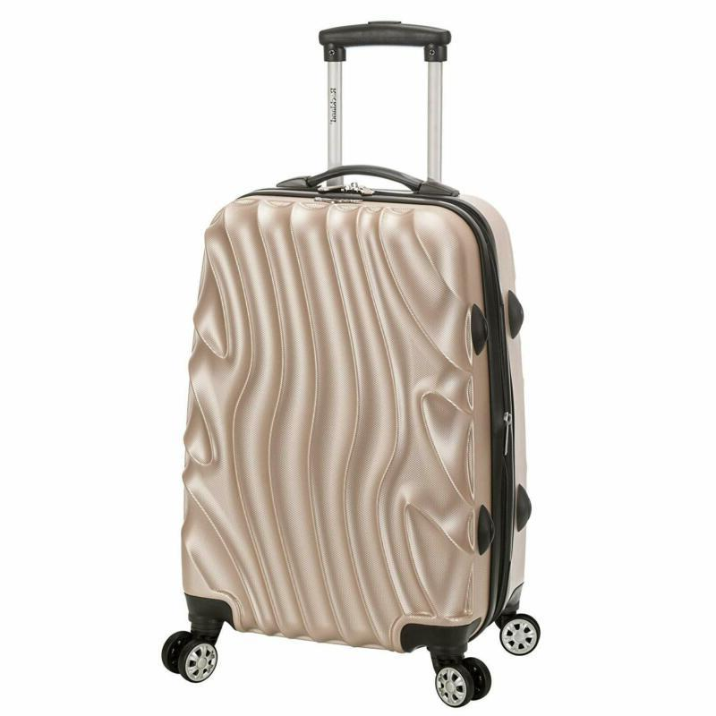 Rockland Melbourne 20 Inch Expandable Abs Carry On Luggage,