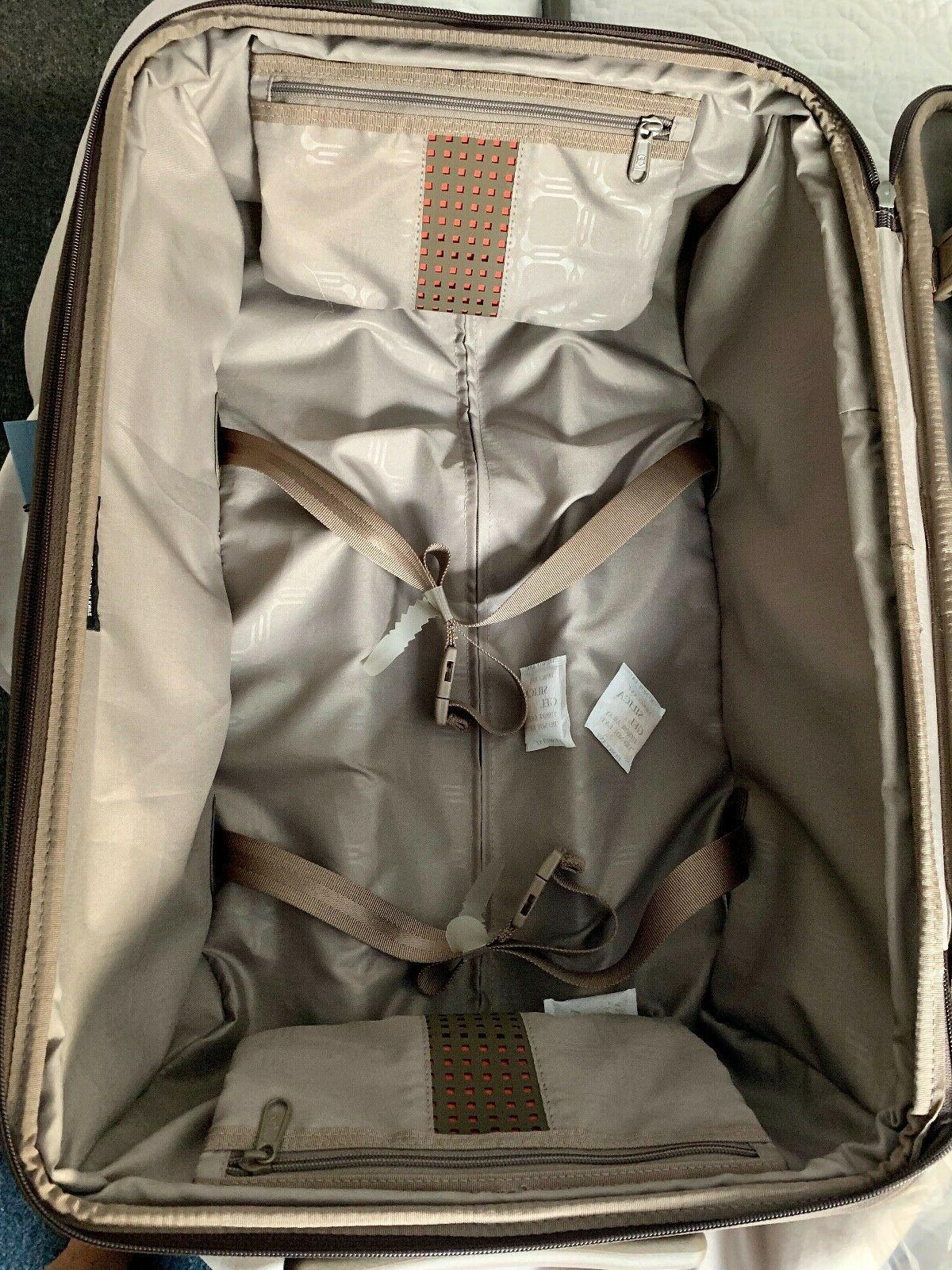 """New 22"""" Wheeled Brown Bronze Carry-On"""