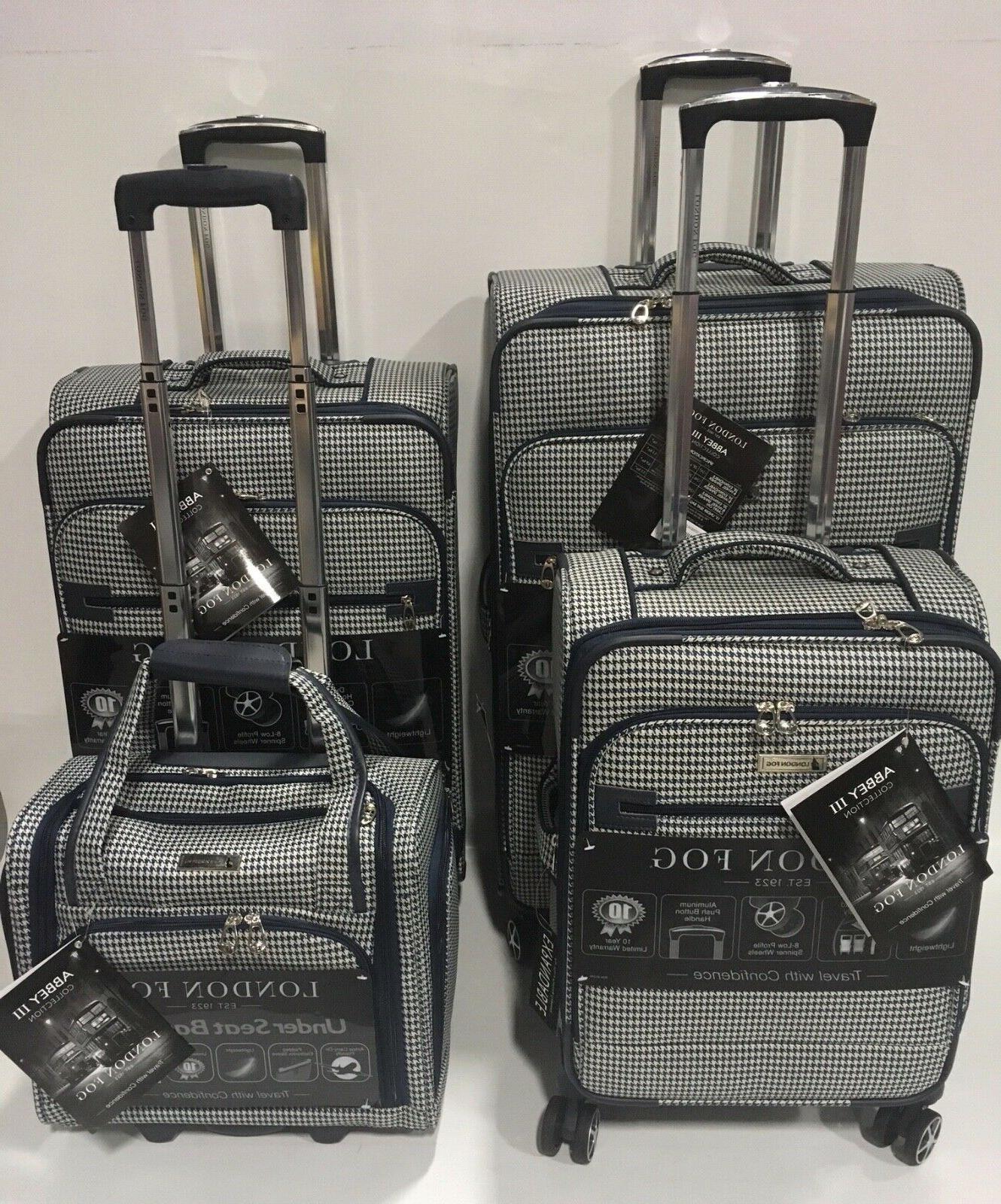 London Fog Abbey 4pc Light Luggage Set Expandable