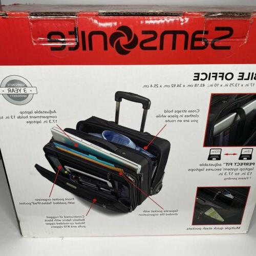 NEW On Samsonite Spinner Wheeled Unisex Briefcase