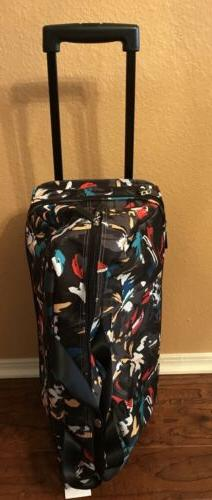New Vera Bradley Rolling Travel Luggage With Wheels, Duffel