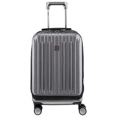 paris titanium carry on spinner rolling luggage