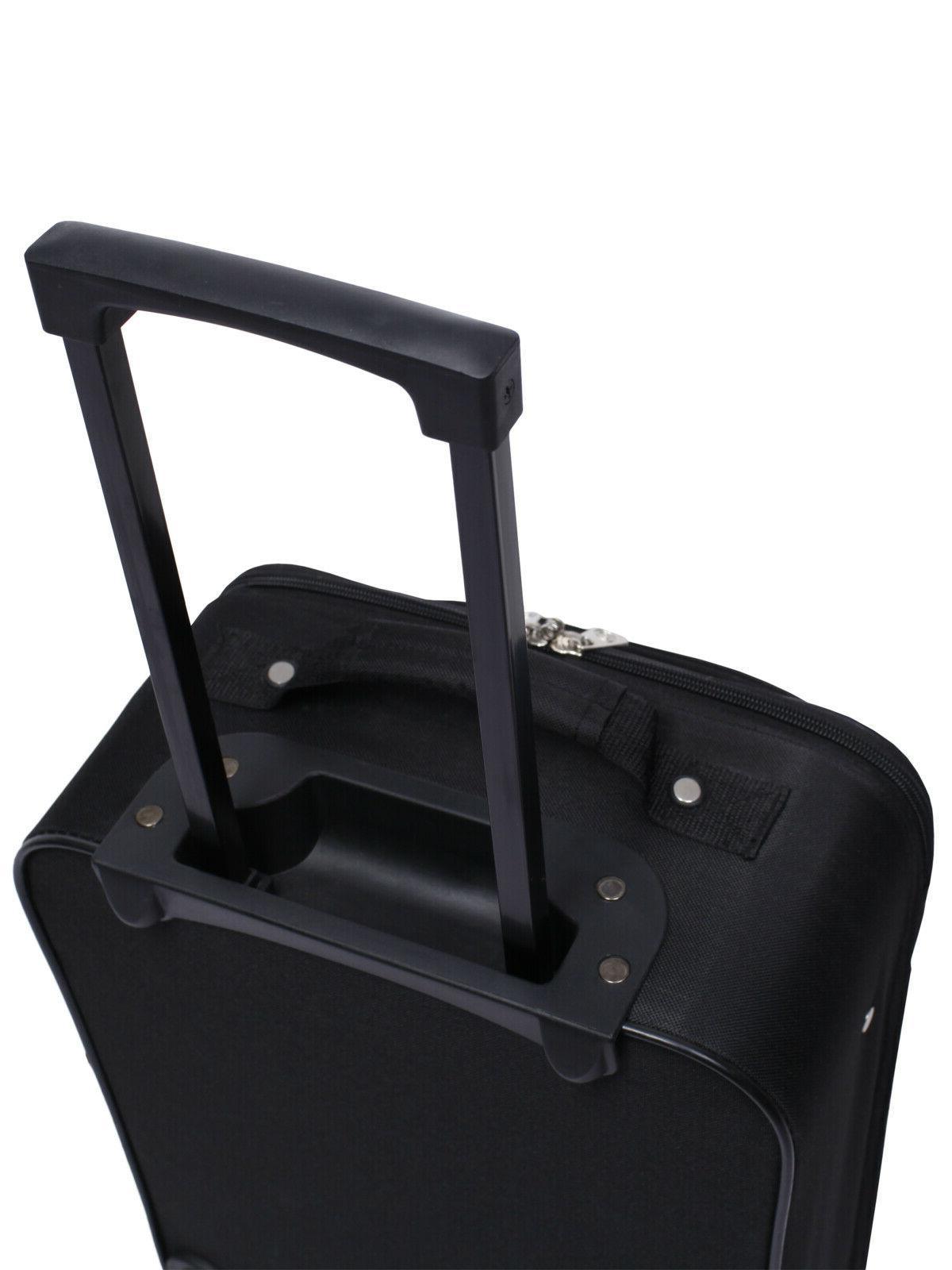 Pilot Case Carry-On Upright Handle Bag Black