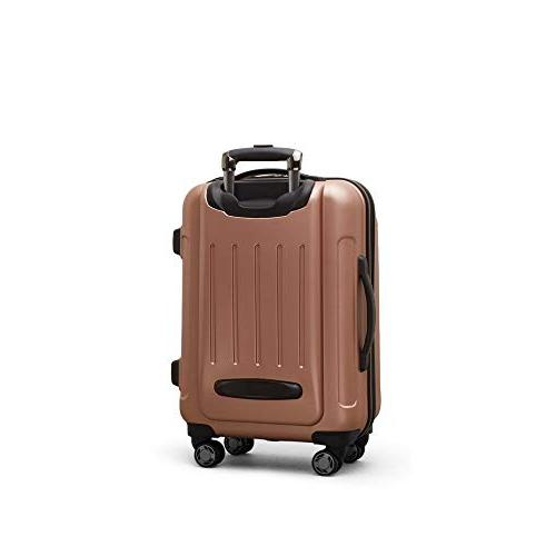 """Kenneth Cole Reaction Renegade 20"""" Hardside 8-Wheel Spinner Carry-on Gold"""