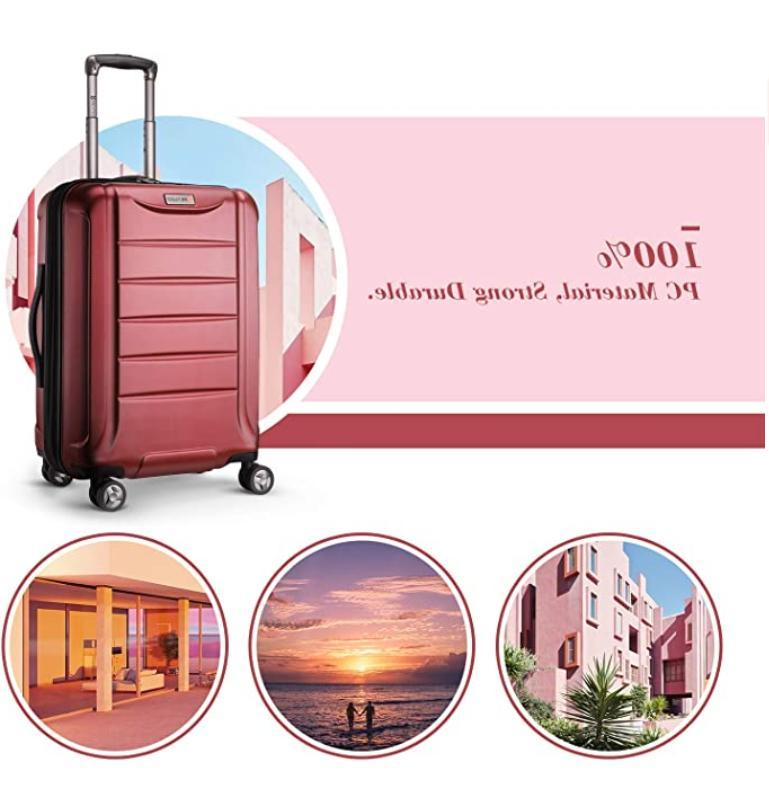 REYLEO Expandable Luggage Inch Luggage Suitcase USB C