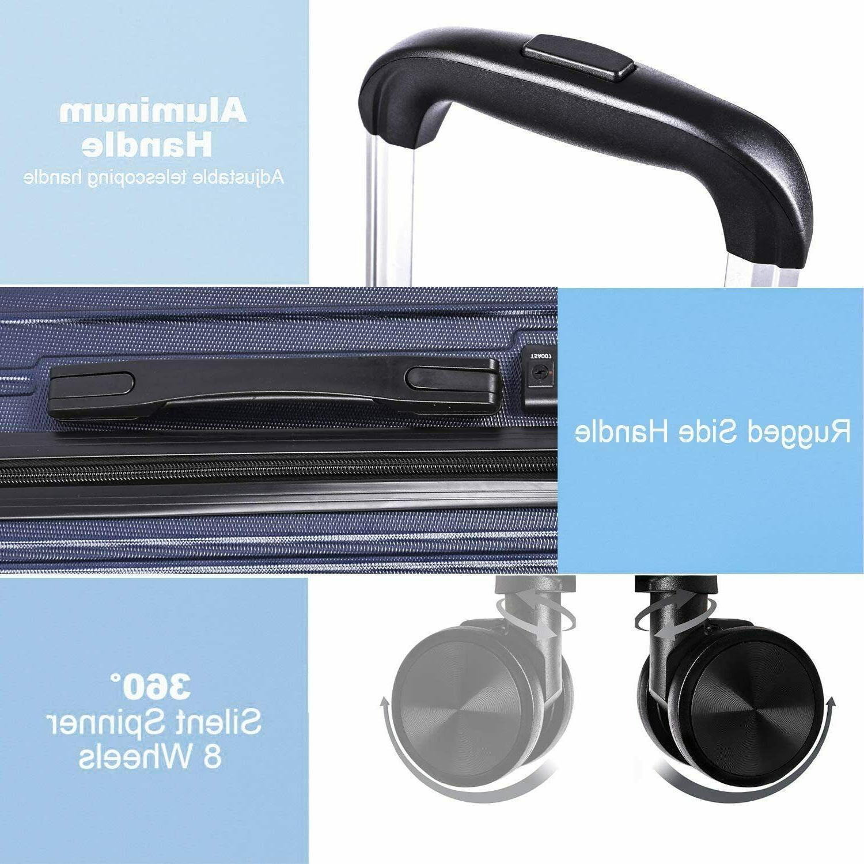 REYLEO Expandable Luggage 21 Inch PC on USB C