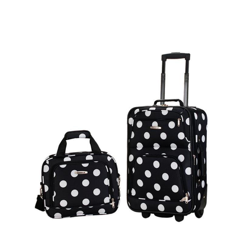 Rio Expandable 2-Piece Blackdot Carry On Softside Luggage Se