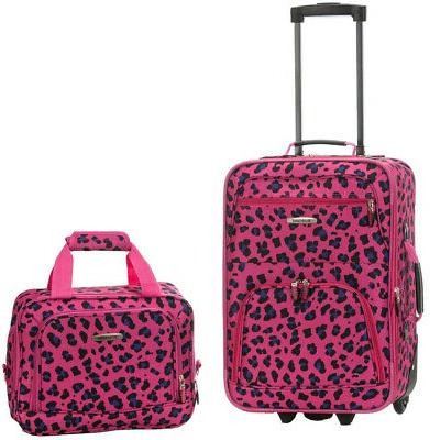 Rockland Expandable Carry On Set, Black/Gray