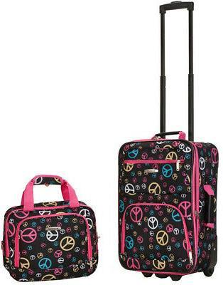 Rockland Carry On Softside Luggage Set, Black/Gray