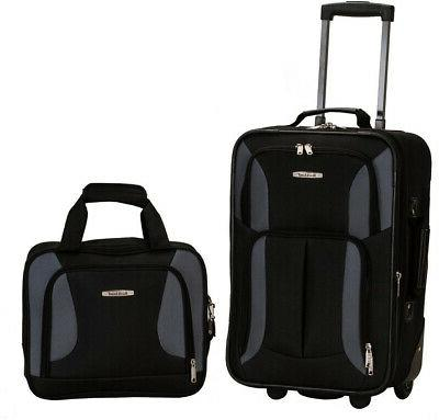 rio expandable 2 piece carry on softside