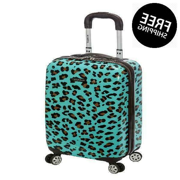 """Rockland Luggage 20"""" Hard Sided Spinner Carry On Luggage F19"""
