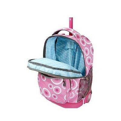 Rolling Wheeled School Book Luggage Carry New Targe