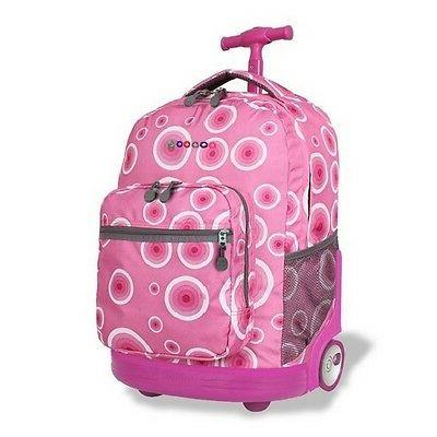 rolling wheeled backpack for school travel book