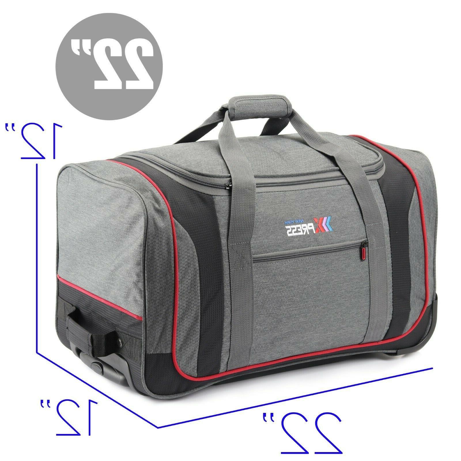 22 Rolling Wheeled Duffel Travel Luggage