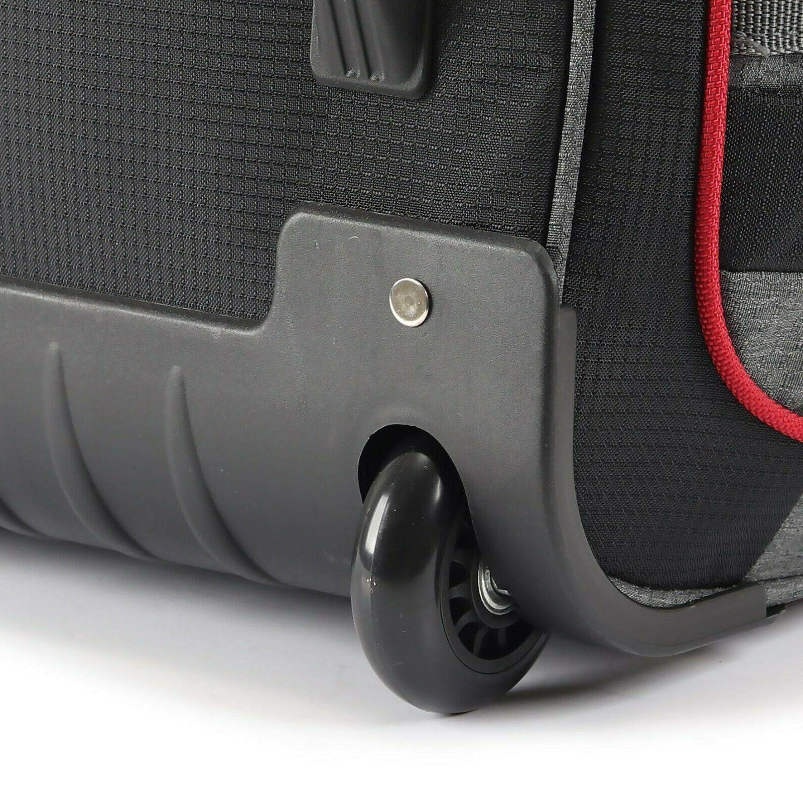 22 in Rolling Duffel Bag Carry Travel Suitcase