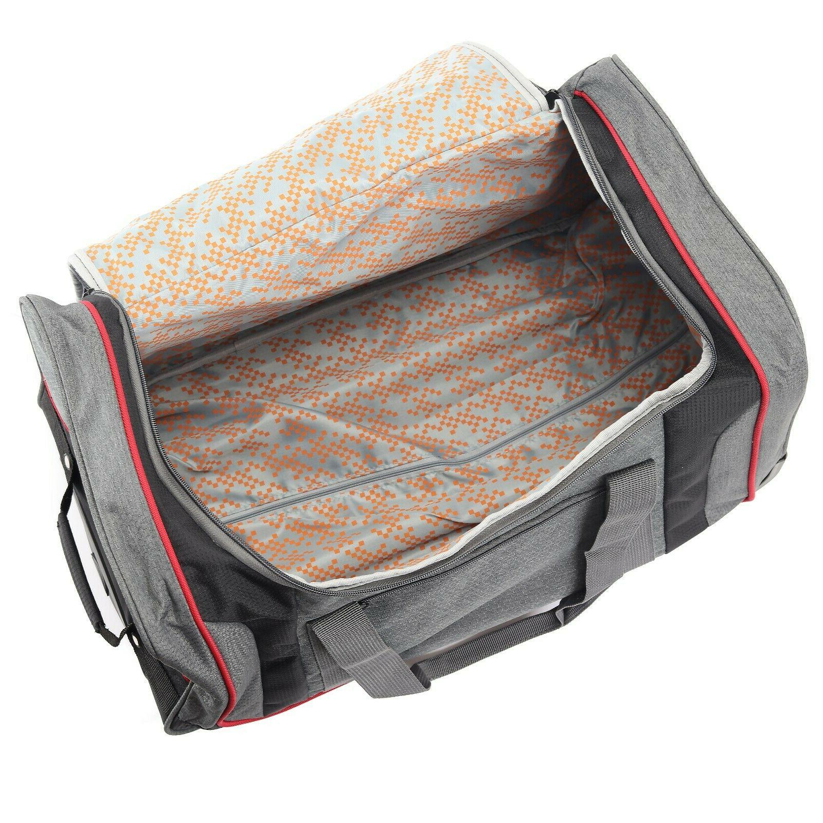 22 in Rolling Wheeled Duffel On Travel Suitcase Luggage