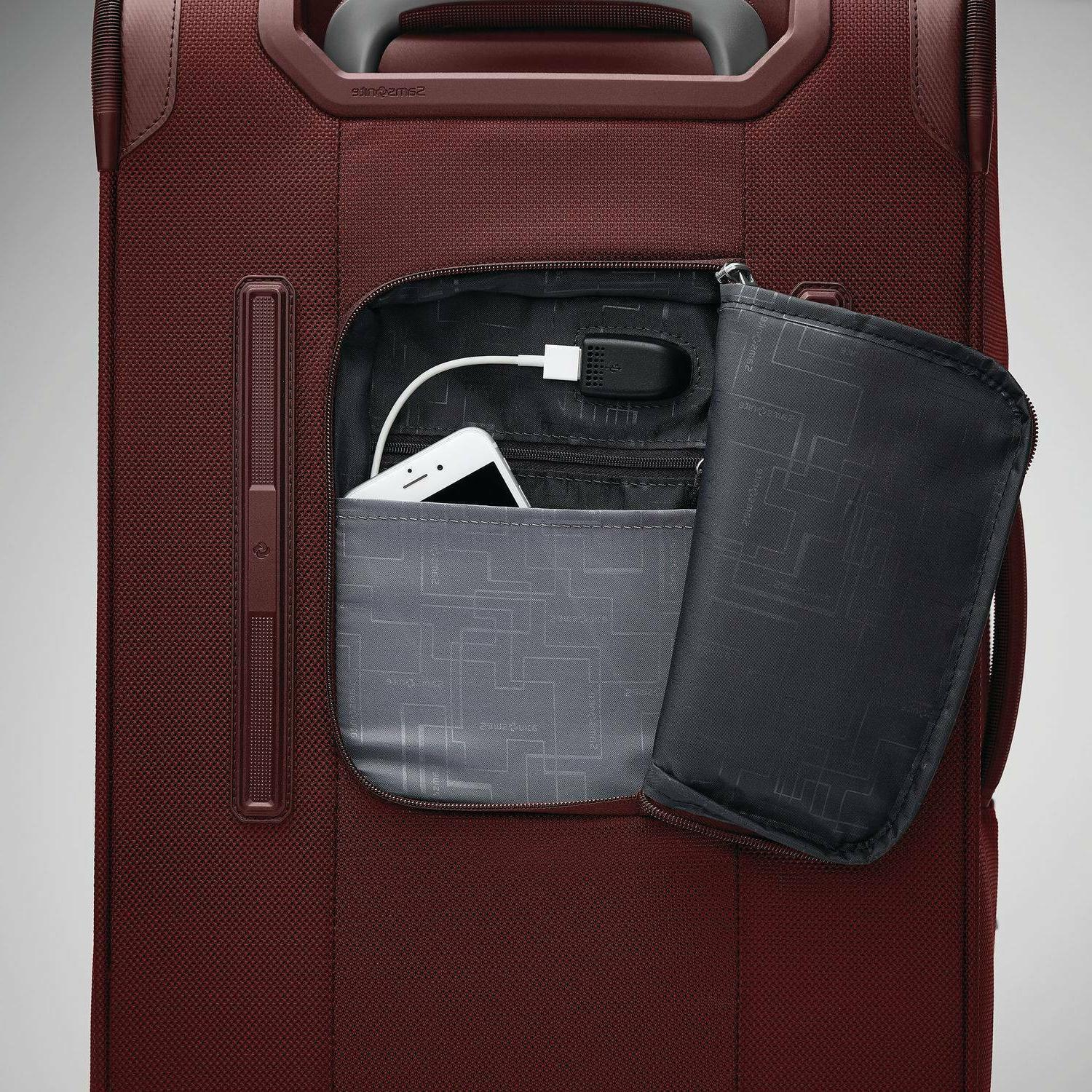 """Samsonite 22"""" Carry-On Luggage - Cabernet Red"""