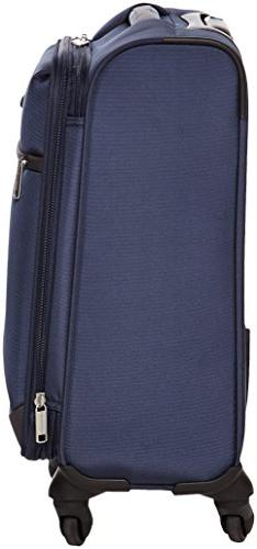 AmazonBasics Softside Spinner 18-inch Carry-on/Cabin Size, Navy Blue
