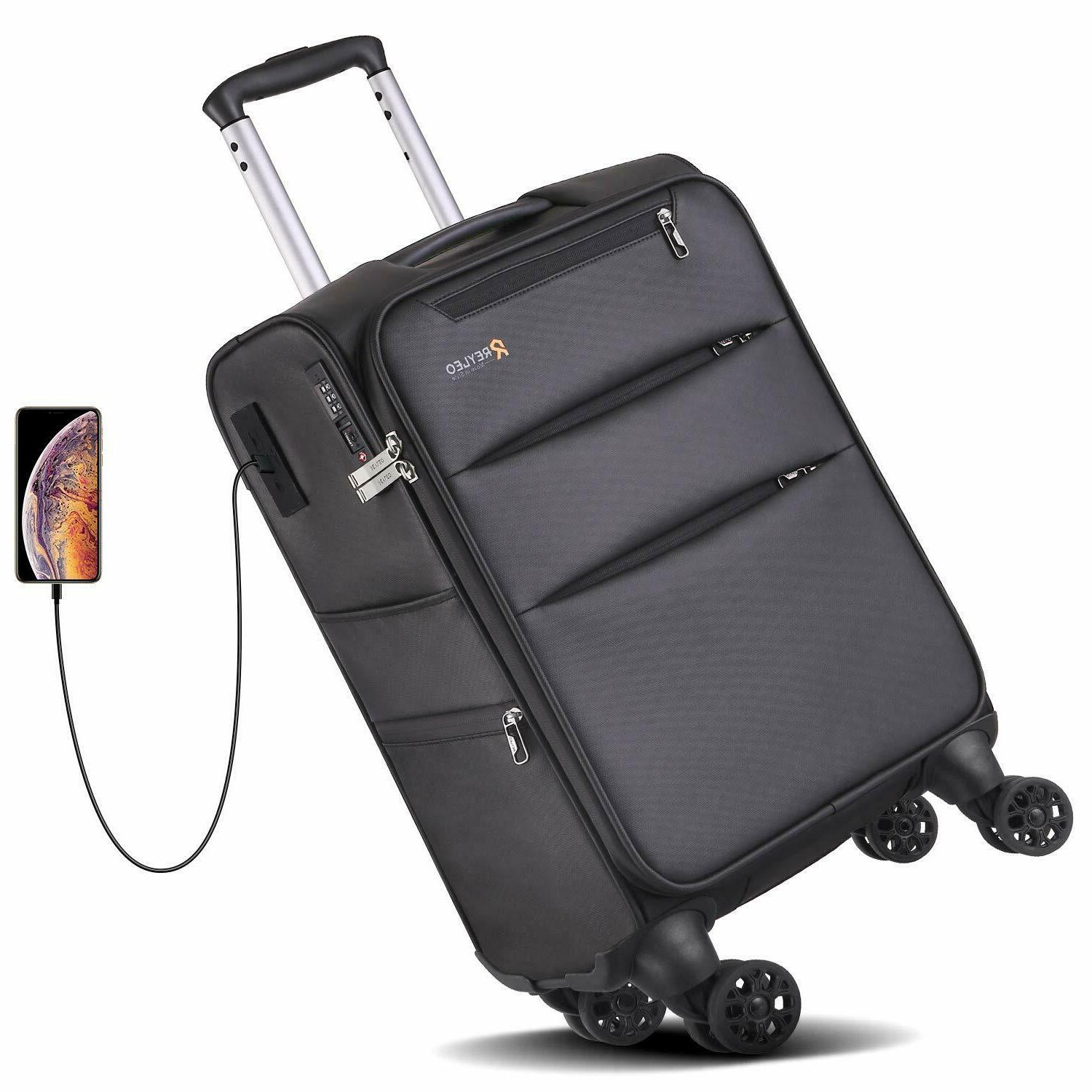 softside spinner luggage 20 inch carry on