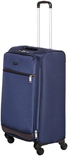 AmazonBasics Softside Spinner Luggage - 25-inch, Navy Blue