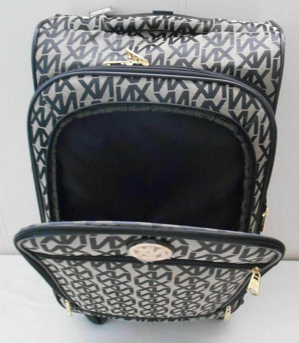 """SPINNER SET 22"""" CARRY ON LUGGAGE XN PATTERN ROLLING 4"""