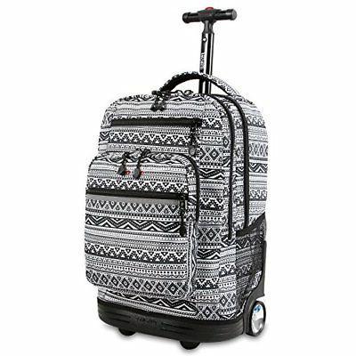sundance laptop rolling backpack tribal