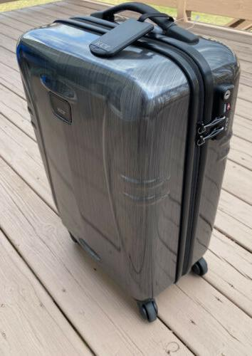 Tumi International Side Spinner Carry Grey Suitcase