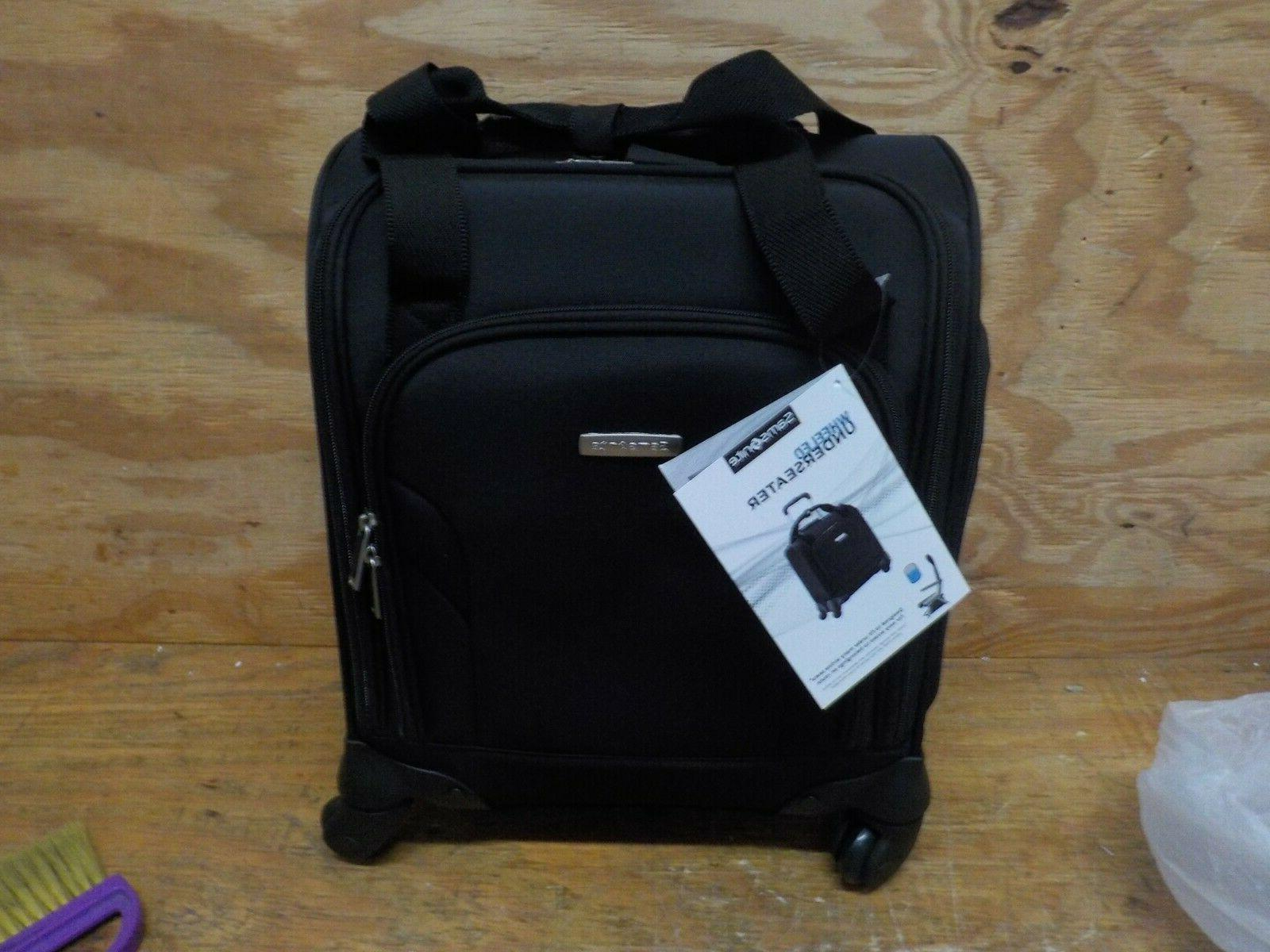 underseat carry on spinner with usb port